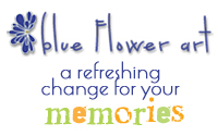 Blue Flower Art - a refreshing change for your memories!